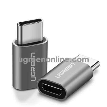 Ugreen 30511 usb c male to micro usb female adapter with aluminum case xám us189