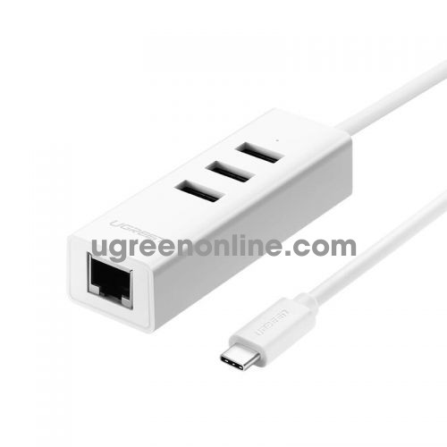 Ugreen 20792 usb type c to ethernet usb hub trắng abs 20792