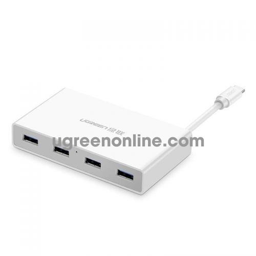 Ugreen 30278 usb c to 4 port usb 3.0 hub trắng 30278