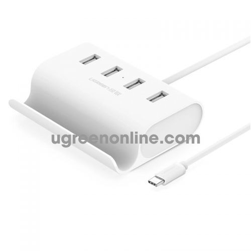Ugreen 30288 usb c to 4 port usb 2.0 hub with cradle trắng abs 30288