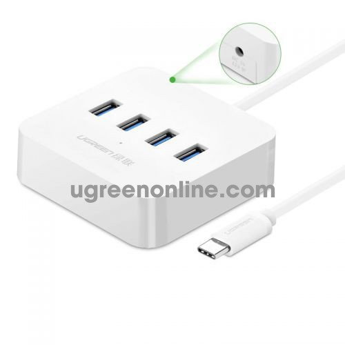 Ugreen 30316 usb c to 4 port usb 3.0 hub trăng abs 30316