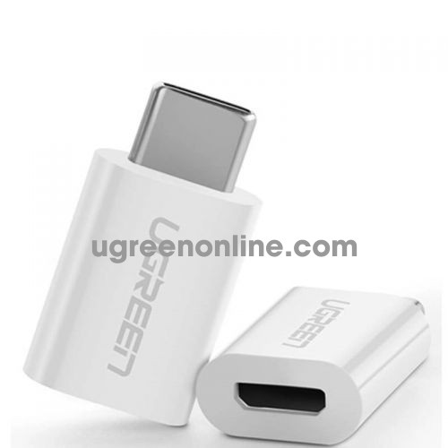Ugreen 30154 usb 3.1 type c to micro usb adapter trắng us157