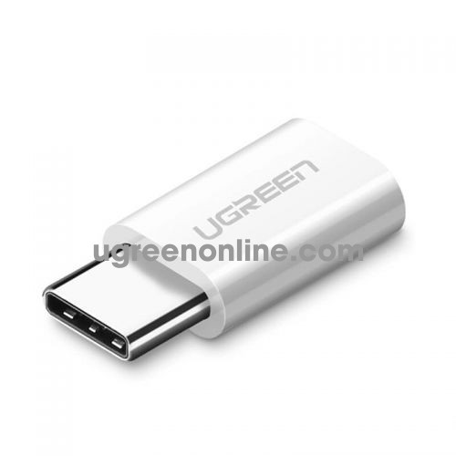 Ugreen 30864 usb 3.1 type c to micro usb adapter trắng us157
