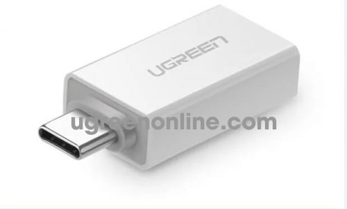 Ugreen 30155 usb 3.1 type c superspeed male to usb 3.0 type a female adapter trắng us173