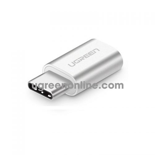 Ugreen 20854 usb c male to micro usb female adapter with aluminum case bạc us189