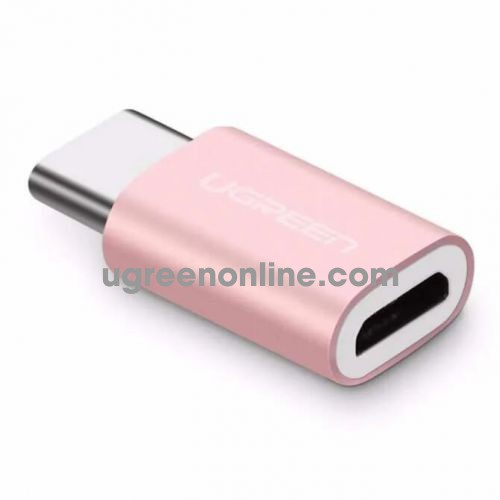 Ugreen 30512 usb c male to micro usb female adapter with aluminum case hồng vàng us189 10030512