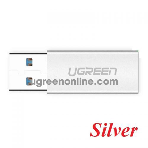 Ugreen 30706 usb 3.0 type a male to usb 3.1 type c female converter adapter silver US204