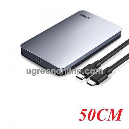 Ugreen 70499 2.5-inch sata external hard drive enclosure usb c to usb type c cable US221