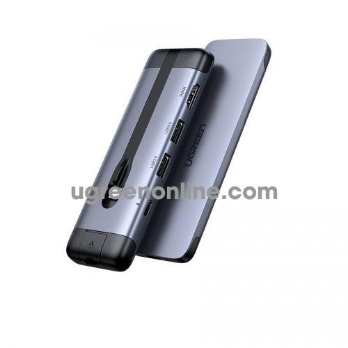 Ugreen 70508 hdmi + PD 12W + 3x usb 3.0 + LAN RJ45 usb Type-C to 5 in 1 adapter CM287 10070508