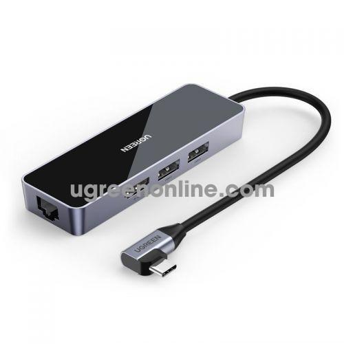 Ugreen 80546 4K 30Hz + 2 x USB 3.0 + HDMI + RJ45 Gigabit 4 in 1 usb type c coverter CM350 10080546