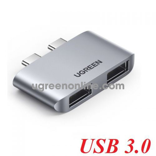 Ugreen 10913 for macbook 2 * usb type c Male to 2 * USB 3.0 Female USB 3.1 Gen2 10Gbps Adapter CM413 10010913