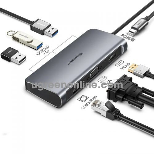 Ugreen 60557 7 in 1 usb c multifunctional converter gray cm212