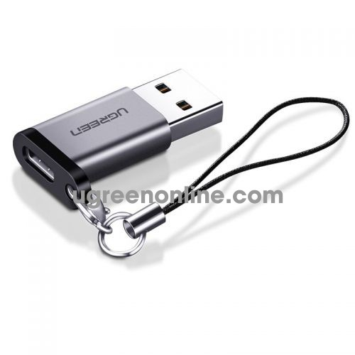 Ugreen 50533 usb a male to usb c male adpater 3.0 xám us276