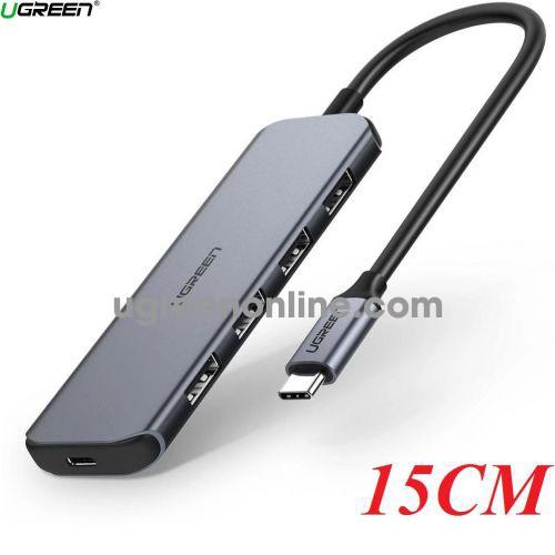 Ugreen 60268 15CM BLACK 4 Ports USB TYPE C to USB 3.0 Hub CM164 10060268