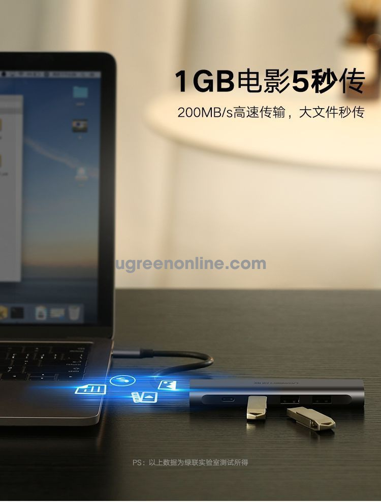 Ugreen 50979 type c to 4 ports usb 3.0 hub without pd cm136