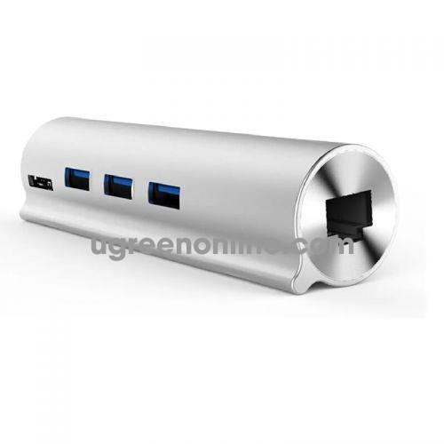 Unitek Y-3095 Hub Usb 3.0 3 Ports + Lan +Type-C - 98245 10098245