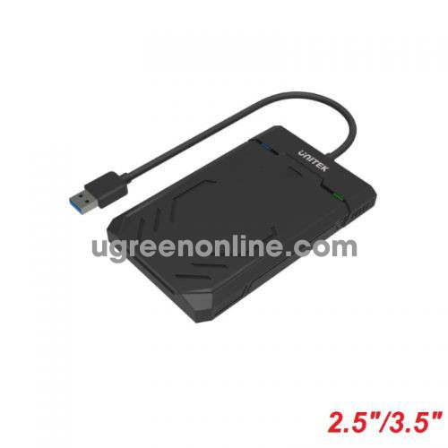 Unitek 28504 Y-3036 Usb 3.1 To Sata6G 2.5 Inch Hdd-Ssd Hard Disk Enclosure Hộp Đựng Ổ Cứng Màu Đen 10028504