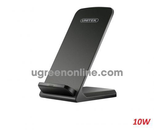 Unitek 28208 M002ABK 10W màu đen giá đỡ kèm Đế sạc không dây wirelless smartphone cao cấp 10028208