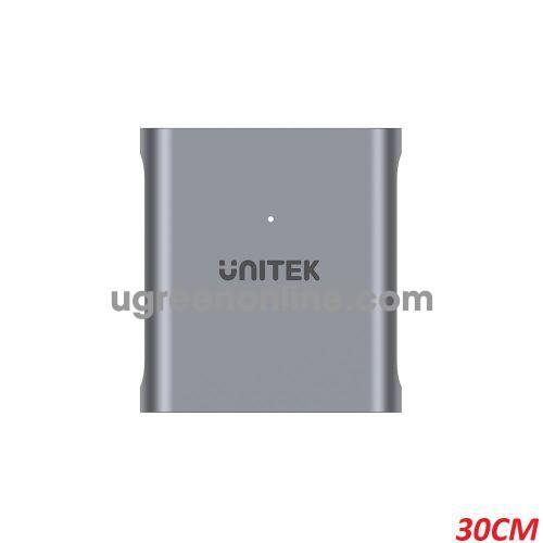 Unitek 26088 R1005A 30CM CFexpress 2.0 Đầu đọc thẻ nhớ USB Type-C Vỏ Nhôm Màu Xám 10026088