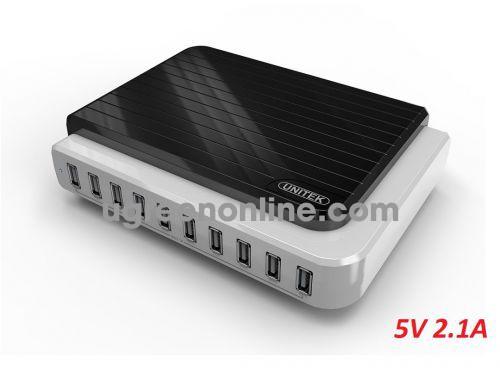 Unitek 29038 Y-2155 10 cổng 5v x 2.1A + OTG Bộ Sạc USB sạc nhiều thiết bị cùng lúc Màu Trắng 10029038