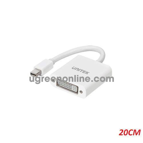 Unitek 27813 Y-6326 20cm Đầu chuyển đổi Mini Displayport ra DVI 24+5 Màu Trắng 10027813