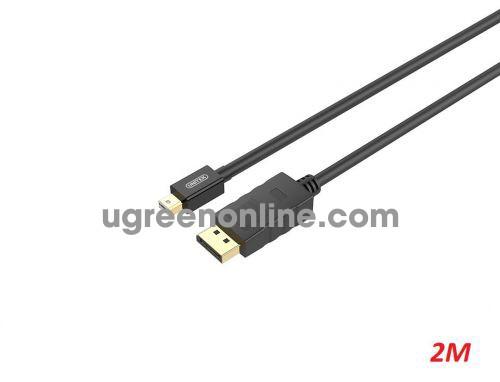 Unitek 29630 Y-C611 2M Cáp chuyển đổi Mini Displayport ra Displayport Màu Đen 10029630
