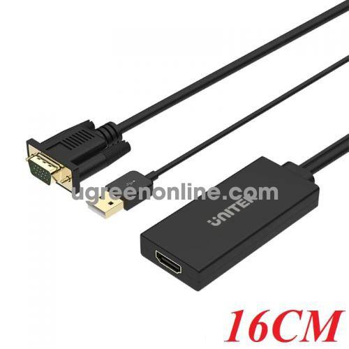 Unitek 27904 Y-8711 Cáp chuyển VGA + USB sang HDMI 1.4 10027904