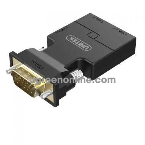 Unitek 25828 Y-HD05001BK Đầu đổi VGA - audio sang HDMI 10025828
