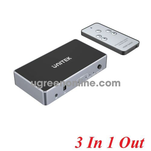Unitek 25528 V1111A 3 in 1 out 4K + Remote HDMI Switch 10025528