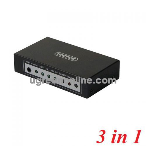 Unitek 28901 Y-5312 3 in 1 out 4K HDMI Switch 10028901