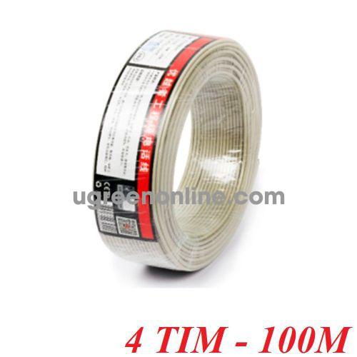 Unitek 28646 C884BG 100M 4 Tim Cable điện thoại 10028646