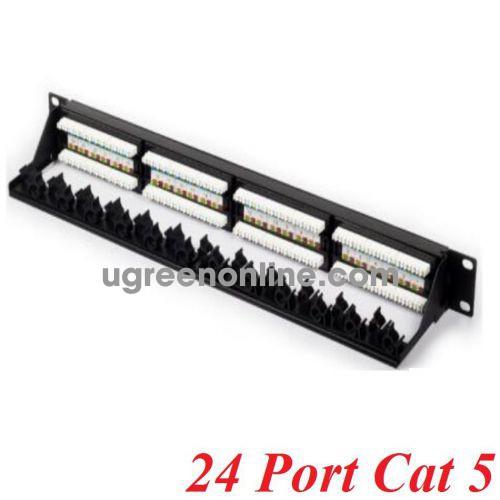 Unitek 26321 T002A Patch panel 24 Port Cat 5 10026321