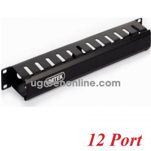 Unitek 26569 T008A Thanh quản lý cáp tủ Rack 12 port 10026569