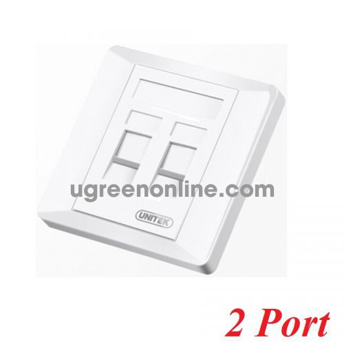 Unitek 29752 T013A Mặt âm tường 2 port vuông 10029752