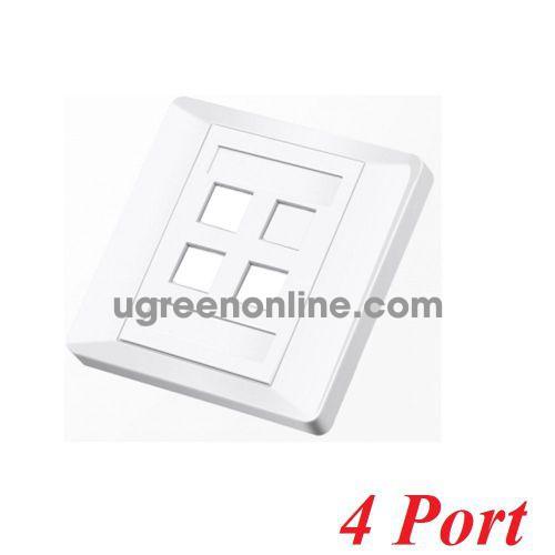 Unitek 25495 T014A Mặt 4 port vuông 10025495