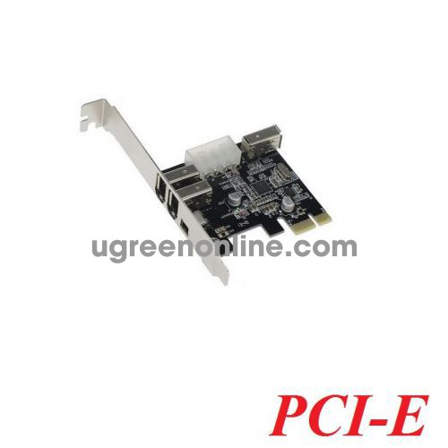 Unitek 25110 1394A-3N Card PCI-e 1x ra 3 cổng 1394A 400mb 2 lớn 6 pin + 1 nhỏ 4 pin có nguồn phụ 10025110