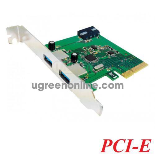 Unitek 28745 Y-7305 Card PCI-e Express 1x ra 2 cổng USB Type-C 3.1 có nguồn phụ 10028745