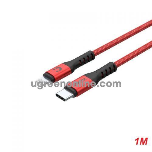 Unitek 25619 C14060RD 1m màu đỏ cáp lightning ra usb Type-C 10025619
