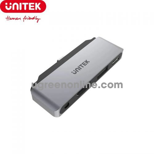 Unitek 27208 D1034A ipad pro 4k 60hz USB Type-C ra USB 2.0 + HDMI + Audio + PD Bộ Chia Hub Màu Xám 10027208