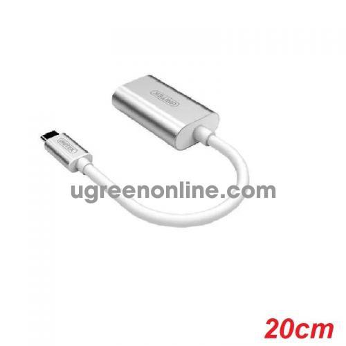 Unitek 26934 Y-248 20CM USB Type-C ra 2 Audio Mic & Headset Cáp chuyển đổi màu Bạc 10026934