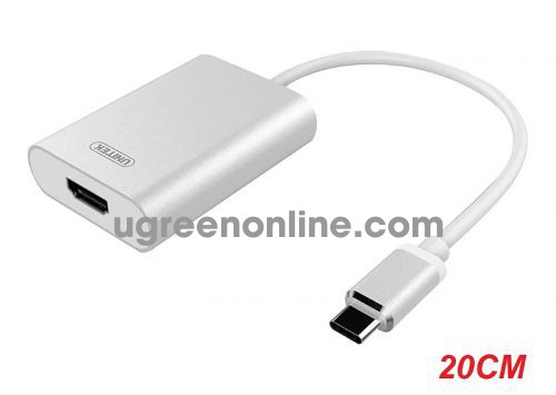 Unitek 29935 Y-6309 20CM USB Type-C ra HDMI Bộ chuyển đổi 0.2M Màu Trắng 10029935