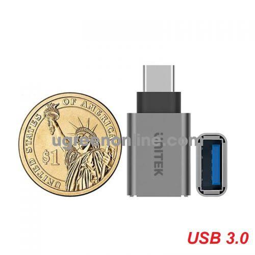 Unitek 27138 Y-A025CGY Đầu đổi USB Type-C ra USB 3.0 Màu Xám 10027138