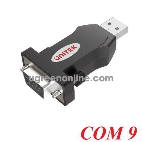 Unitek 25356 Y-109 Cáp USB 2.0 sang RS 232 Com 9 10025356