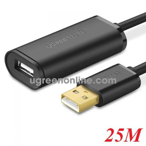 Ugreen 10325 25m usb 2.0 active extension cable with chipset đen us121