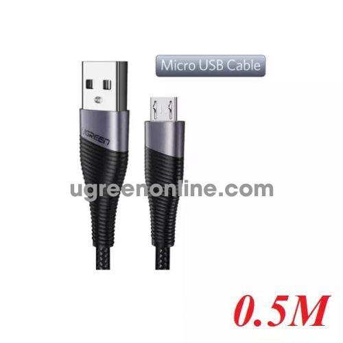 Ugreen 50872 0.5m usb 2.0 to micro usb cable cáp sạc micro usb màu xám ed017