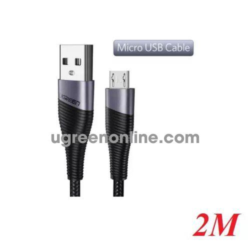 Ugreen 50874 2m usb 2.0 to micro usb cable cáp sạc micro usb màu xám ed017