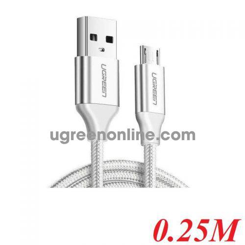 Ugreen 60149 25CM qc3.0 USB 2.0 A to Micro USB Cable Nickel Plating Aluminum Braid white US290 10060149