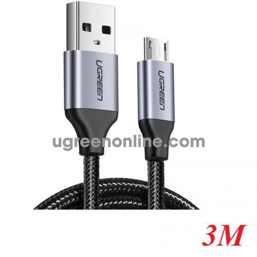 Ugreen 60403 3M qc3.0 USB 2.0 A to Micro USB Cable Nickel Plating Aluminum Braid Black US290 10060403