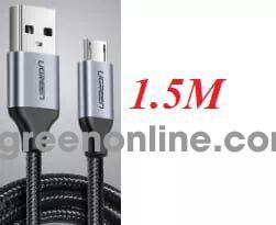 Ugreen 60147 1.5m micro usb 2.0 data cable aluminum case us290