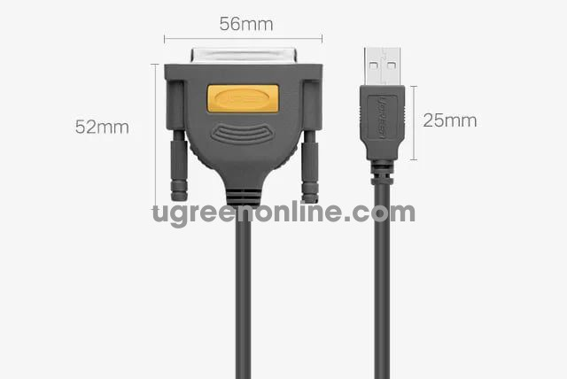 Ugreen 20794 1.5m usb to db25 parallel printer cable 20224
